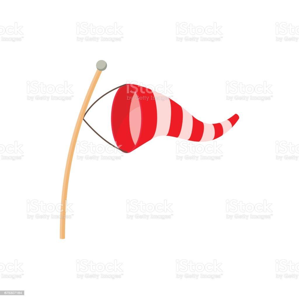 Ícone de cata-vento em estilo cartoon - ilustração de arte em vetor