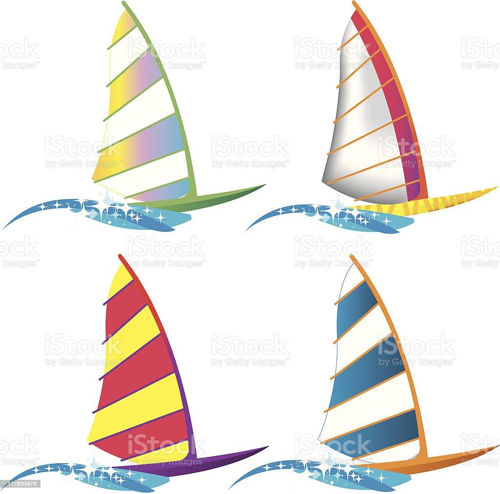 Windsurfers royalty-free stock vector art