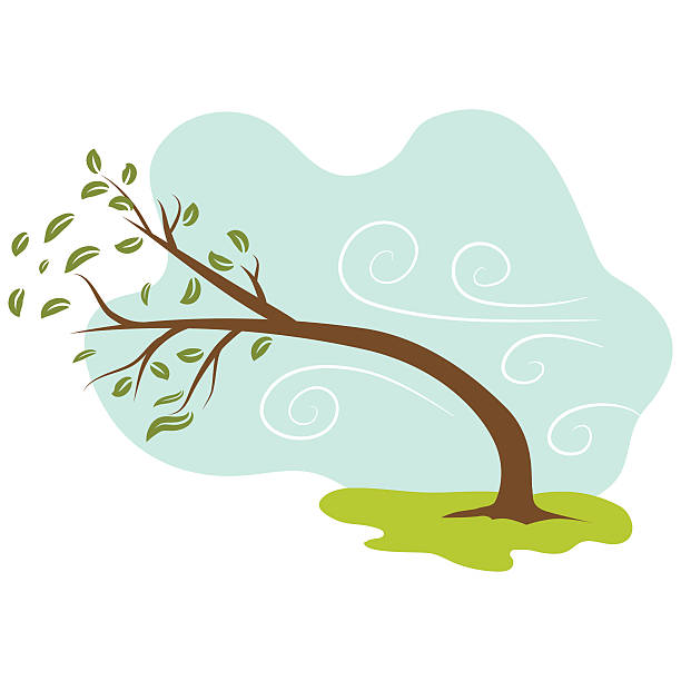 Windy Day Icon An image of a windy day background. bending stock illustrations