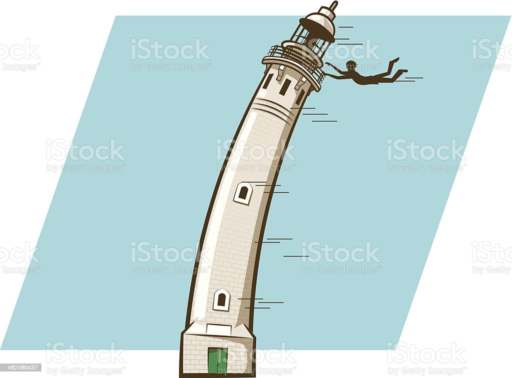 Windy Lighthouse royalty-free stock vector art