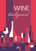 Wine abstract background in A4 vertical format