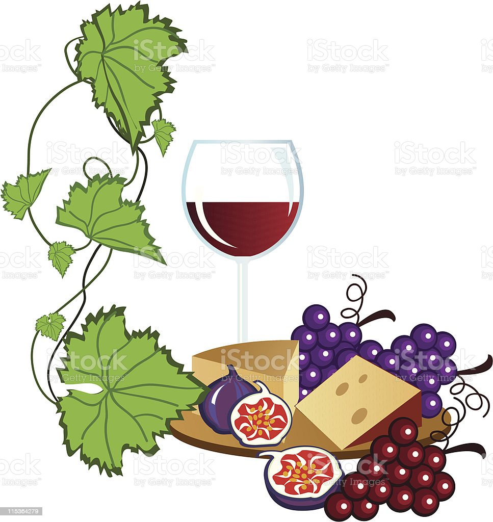 wine and cheese stock vector art more images of alcohol 115364279 rh istockphoto com french wine and cheese clipart