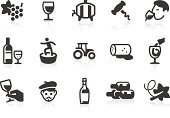 Wine and Vineyard icons