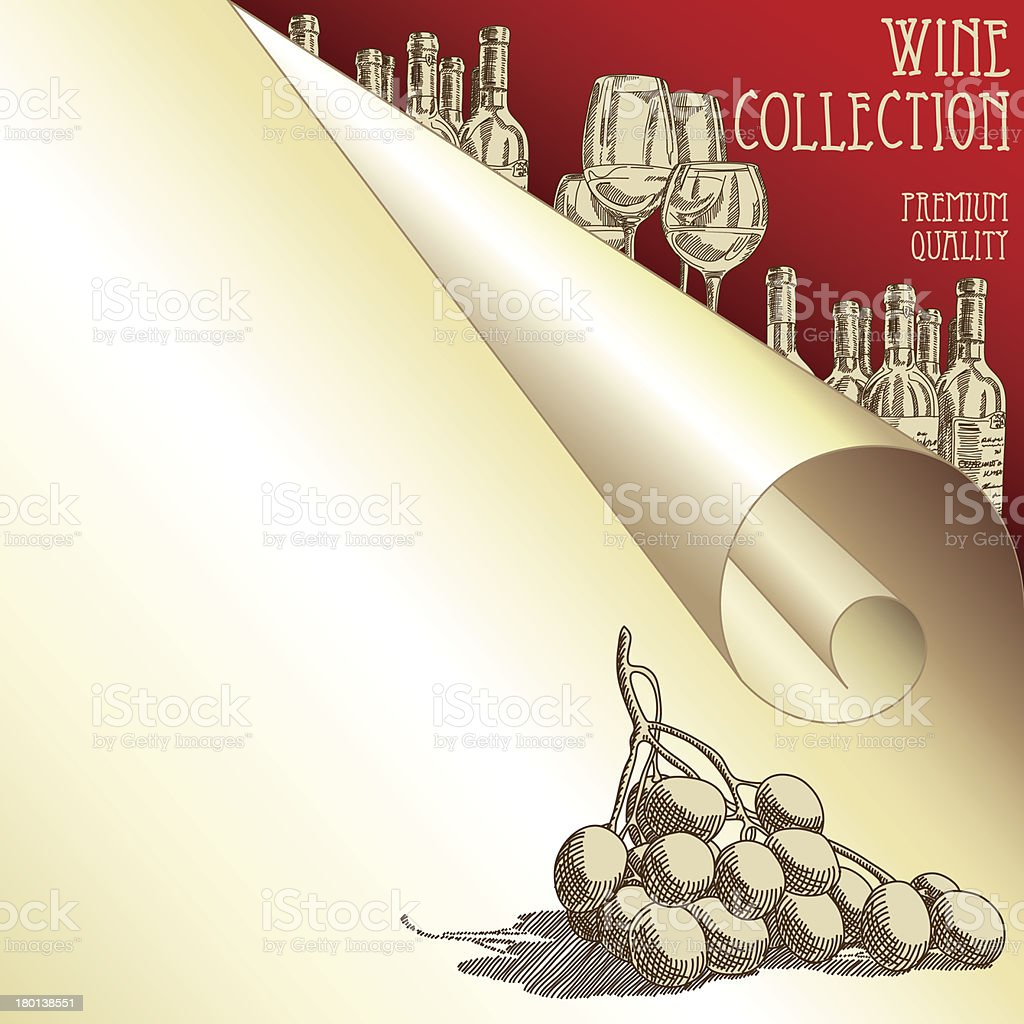 Wine background royalty-free stock vector art