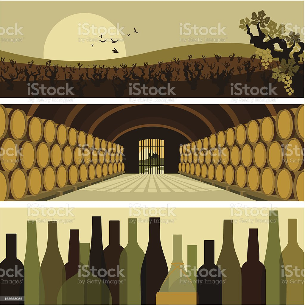 wine banners vector art illustration