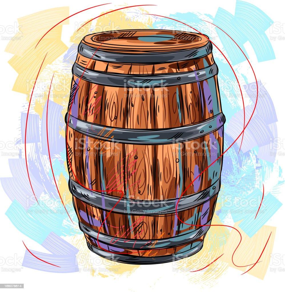 Barril de vino illustracion libre de derechos 166078614 - Barril de vino ...