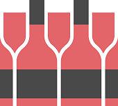 istock Wine bottle and wineglass design 1300088892