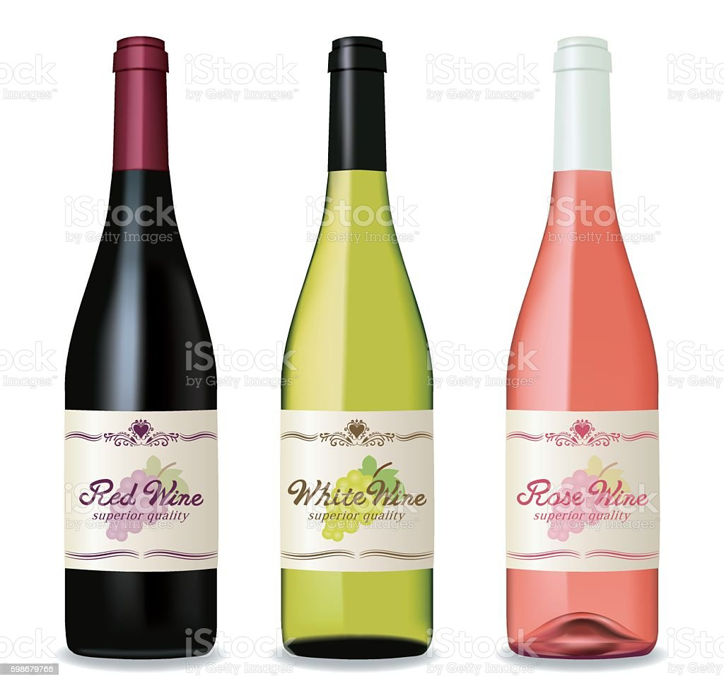 Wine bottle set - Illustration vectorielle
