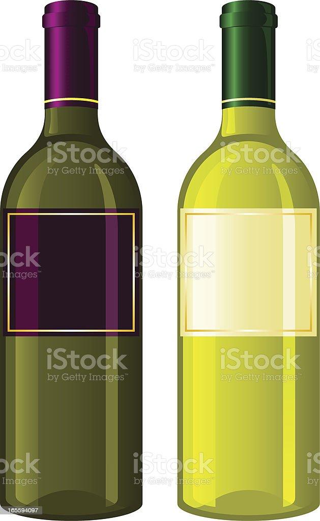 Wine bottle royalty-free stock vector art