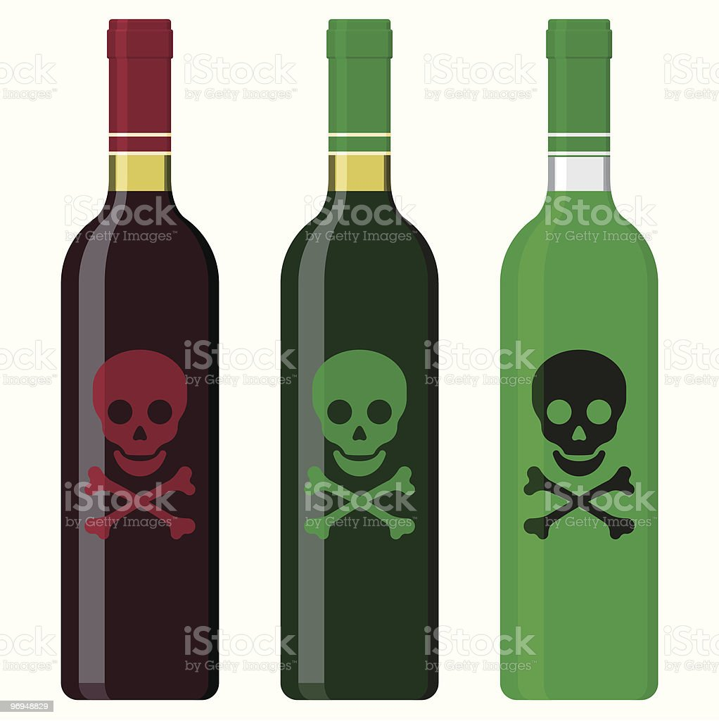 Wine bottles filled with poison royalty-free wine bottles filled with poison stock vector art & more images of black color