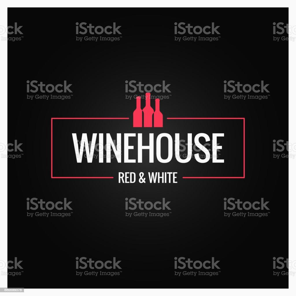 wine bottles logo design background vector art illustration