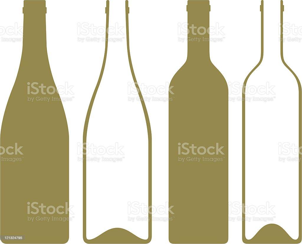 Bouteilles de vin - Illustration vectorielle