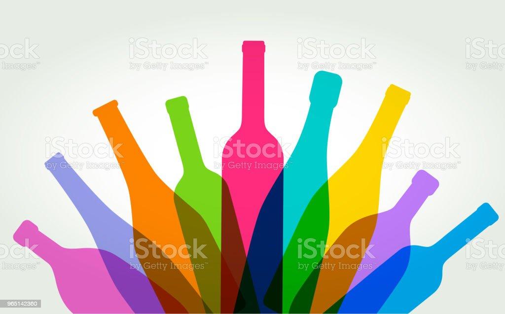 wine bottles wine bottles - stockowe grafiki wektorowe i więcej obrazów alkohol royalty-free