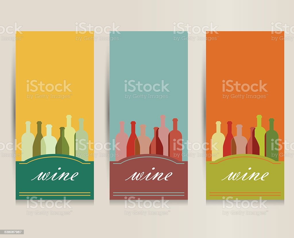 Wine Card For Restaurant. Brochure Design Flyer. Royalty Free Stock Vector  Art