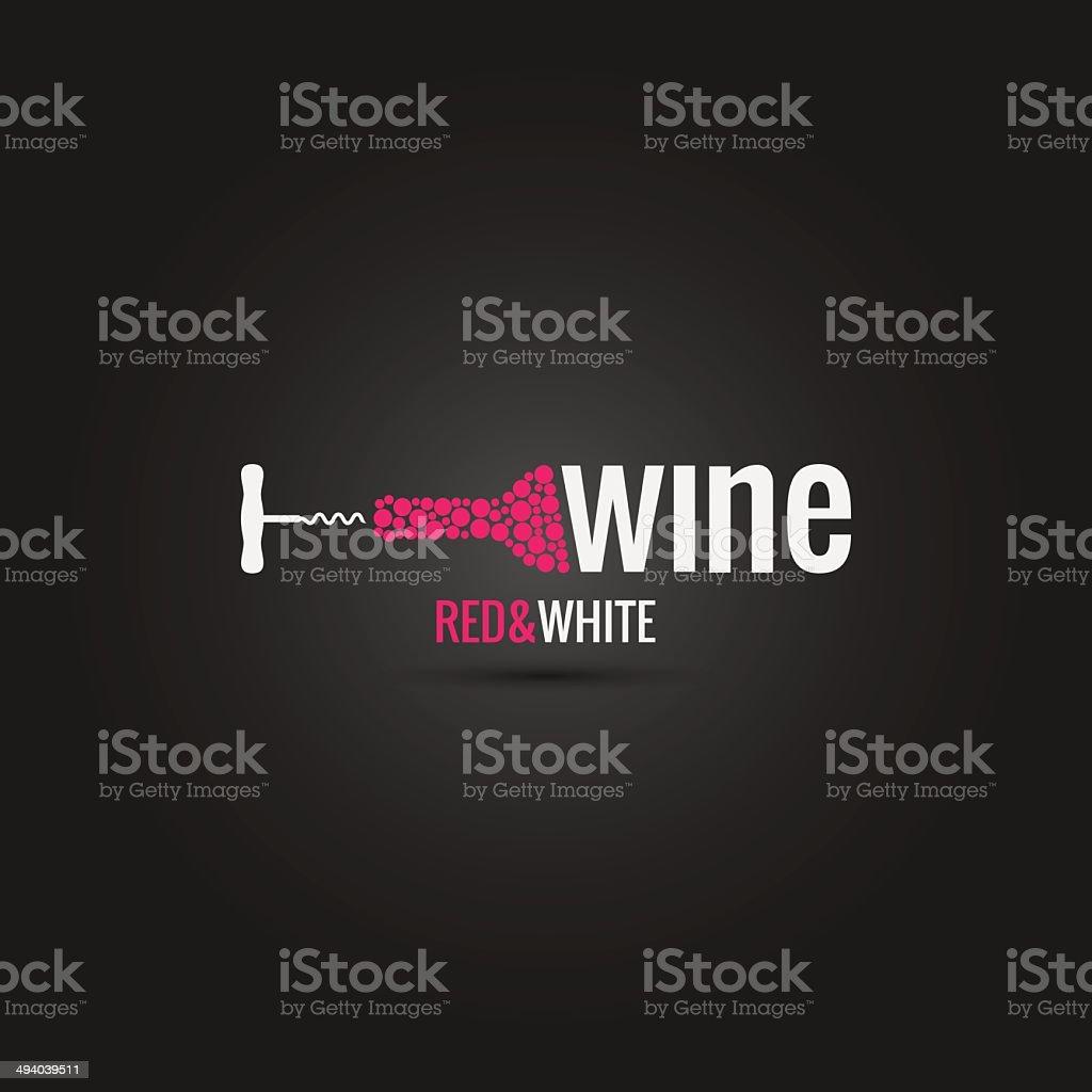wine cellar bottle design background vector art illustration