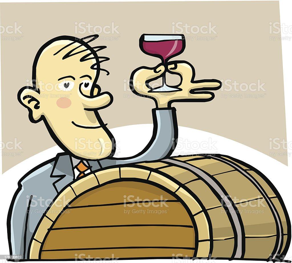 Wine cellar vector art illustration