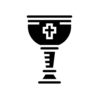 wine christianity cup glyph icon vector illustration