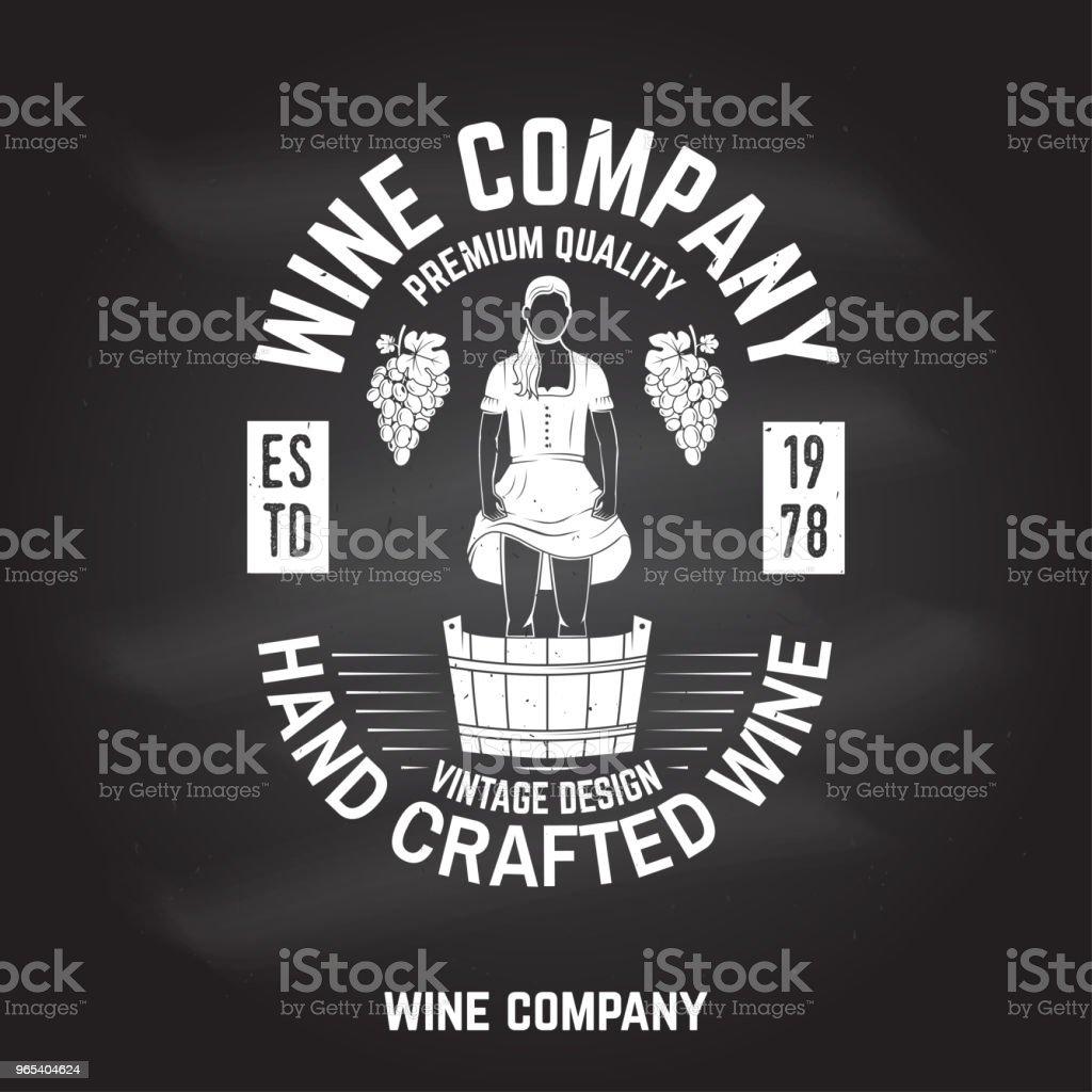 Wine company badge, sign or label. Vector illustration wine company badge sign or label vector illustration - stockowe grafiki wektorowe i więcej obrazów alkohol royalty-free