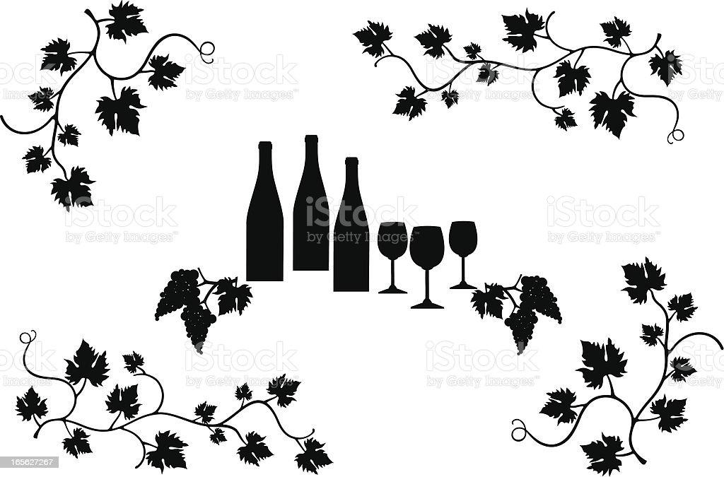 Wine design elements royalty-free stock vector art