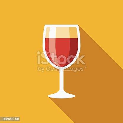 istock Wine Flat Design Hanukkah Icon 968546298
