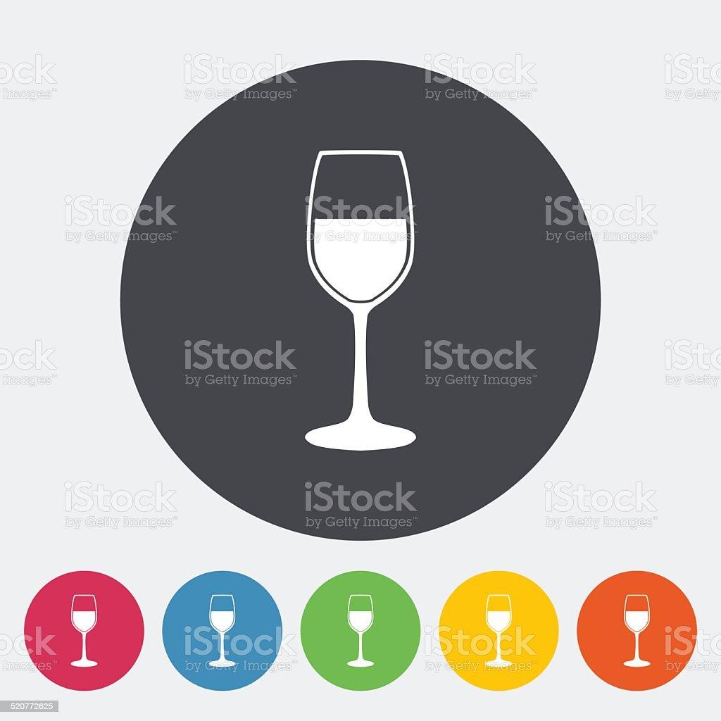 Wine flat icon vector art illustration