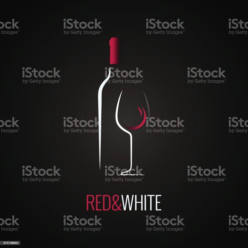 Verre de vin. Arrière-plan de conception icône bouteille - Illustration vectorielle