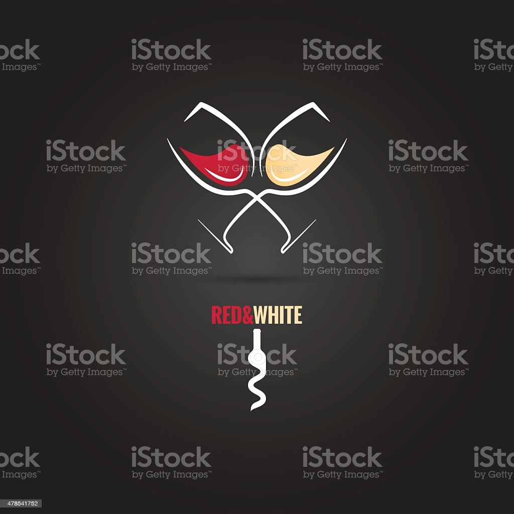 wine glass concept design background vector art illustration