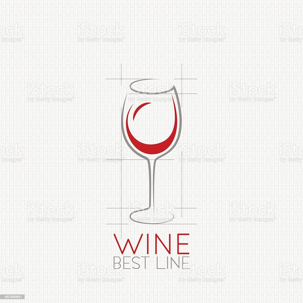 wine glass design background vector art illustration