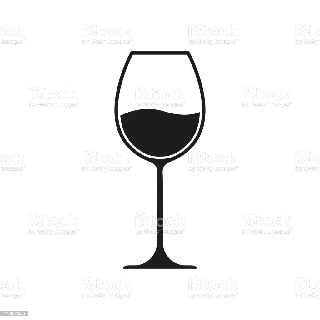 Icône En Verre De Vin Symbole De Boisson Dalcool Illustration Vectorielle Vecteurs libres de droits et plus d'images vectorielles de Alcool
