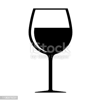 Wine glass icon isolated on white background