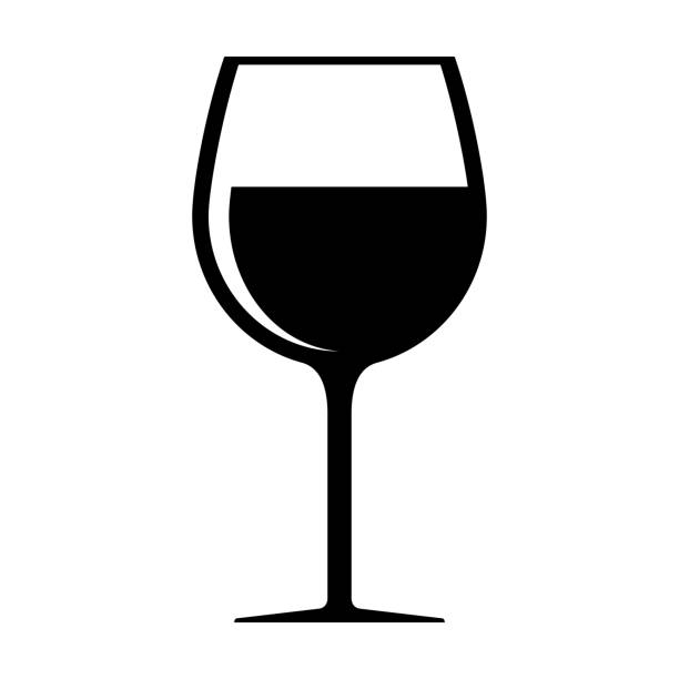 Wine glass icon isolated on white background Wine glass icon isolated on white background wine stock illustrations