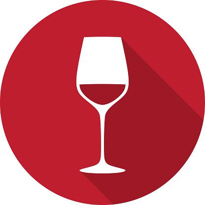 Wine Glass Icon Silhouette