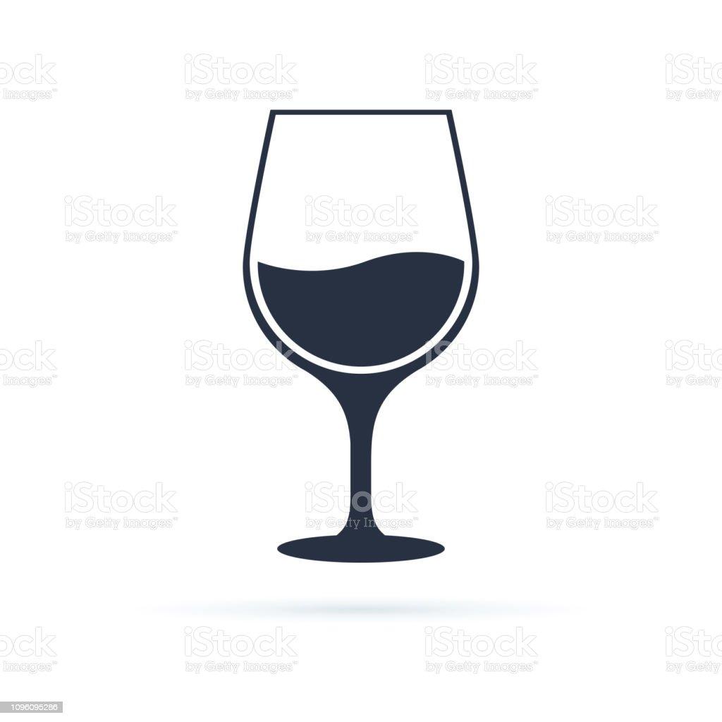 Verre À Vin Icône Symbole Vecteur Illustration De Noir Linéaire Vectorielle De Verre Isolé Sur Fond Blanc Vecteurs libres de droits et plus d'images