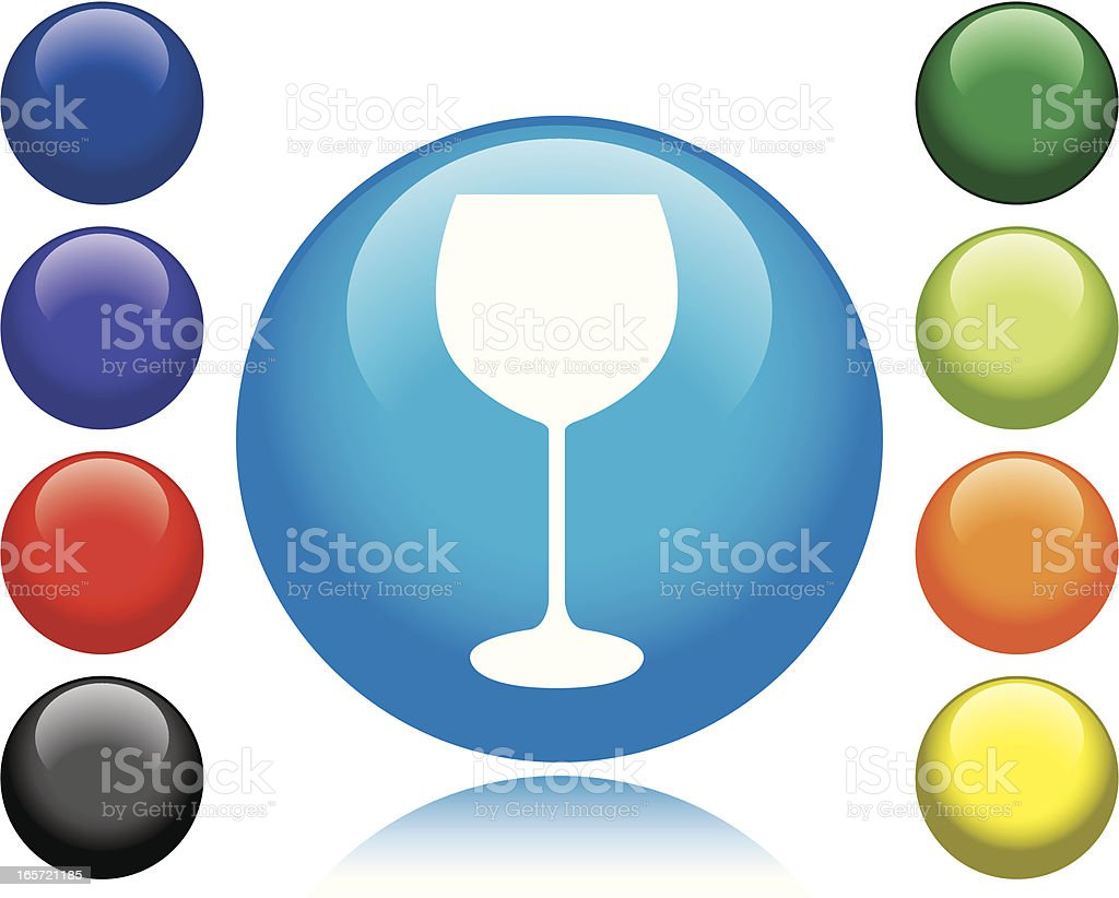 Wine Glass Icon royalty-free stock vector art