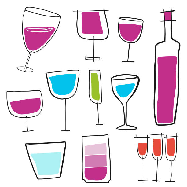 5 207 Cartoon Wine Glasses Illustrations Royalty Free Vector Graphics Clip Art Istock