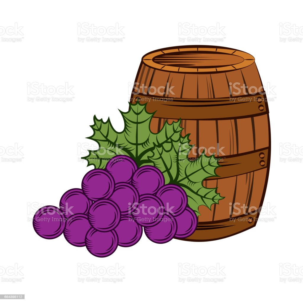 wine house design vector art illustration