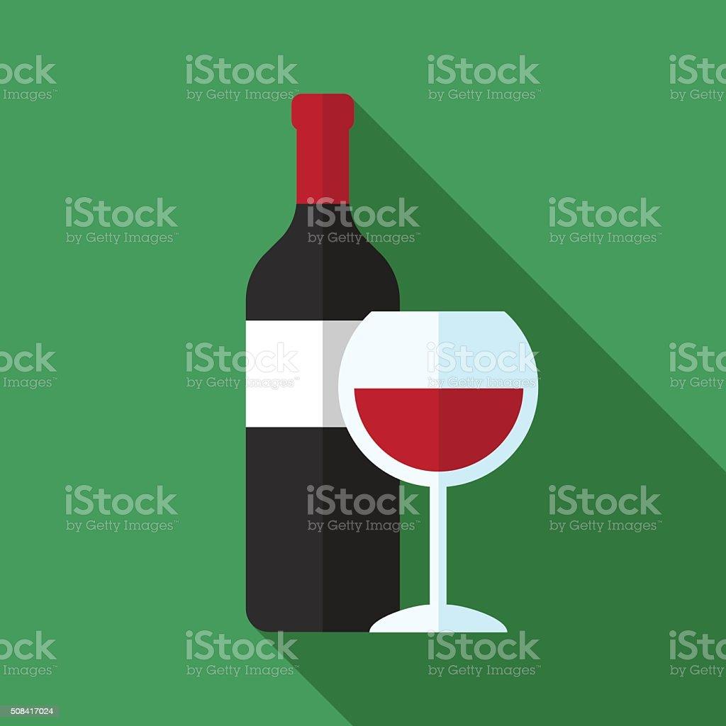 Icône de vin - Illustration vectorielle