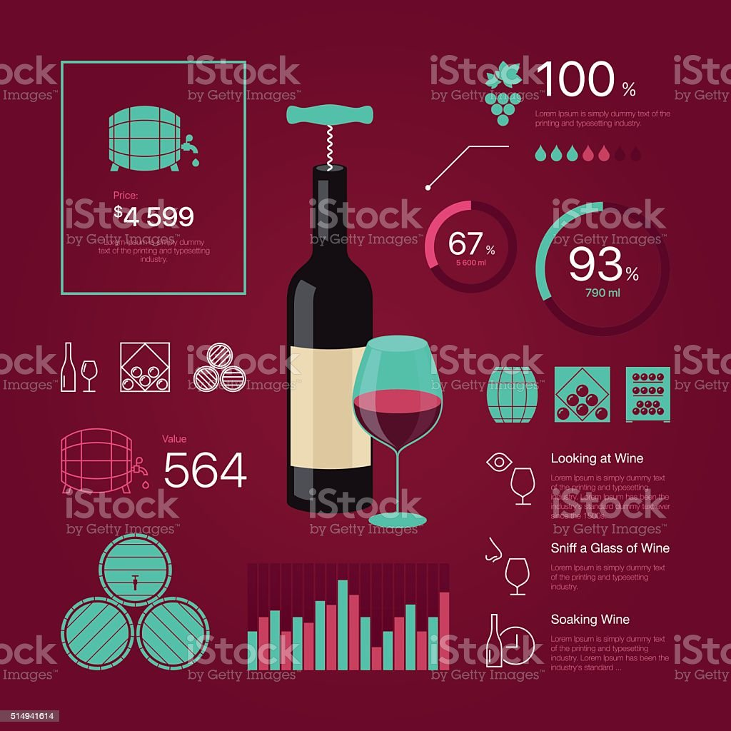 wine infographic vector art illustration