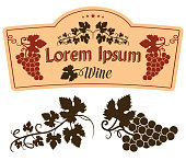 Vector Illustration with Design Elements for Wine Labels and other related products