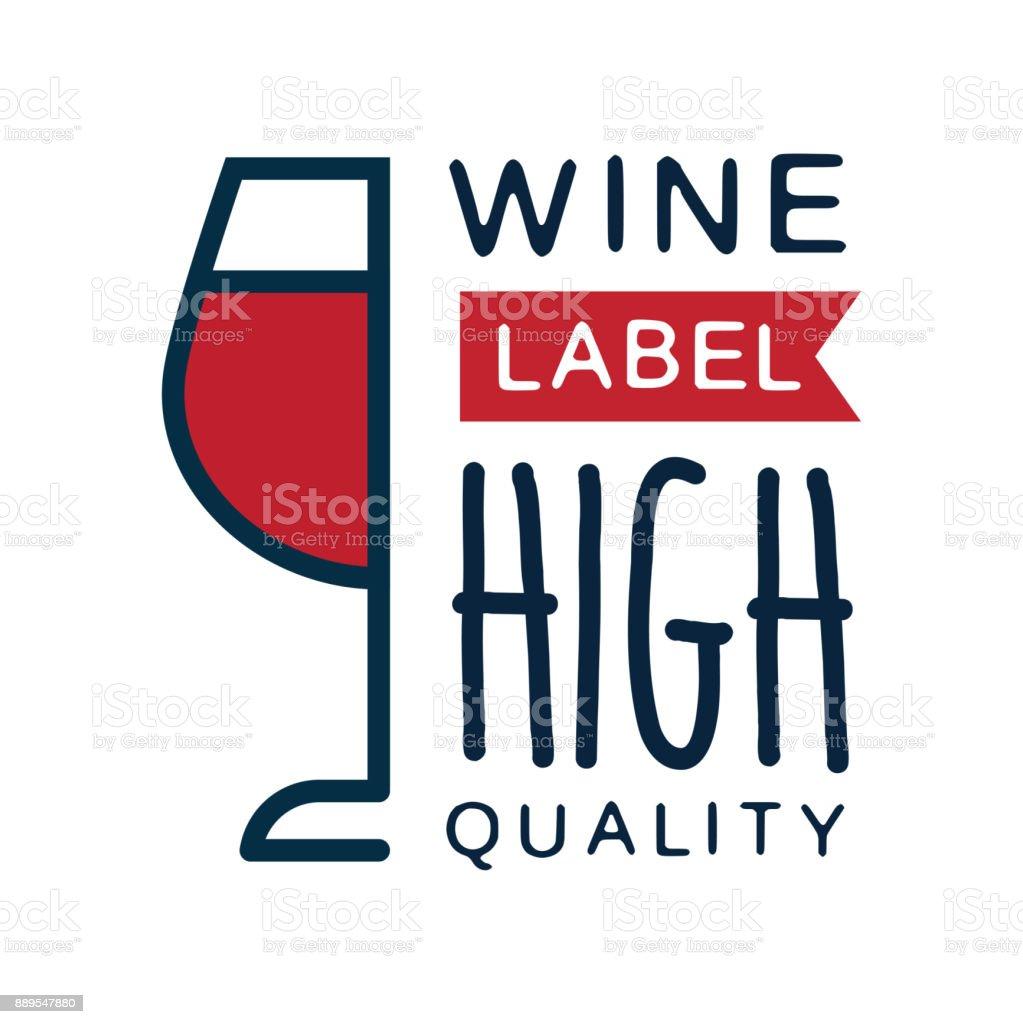 Weinetikett, qualitativ hochwertige Produkt-Logo, Design-Element für Menü, Weingut Logo-Paket, Weingut branding und Identität Vektor-Illustration – Vektorgrafik