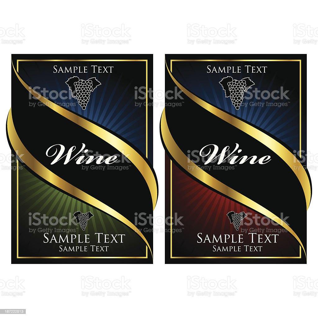 Wine label illustrtations royalty-free stock vector art