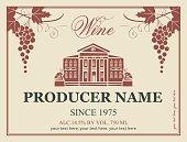 wine label in retro style