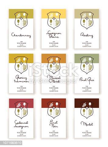 istock Wine label templates 1071663510