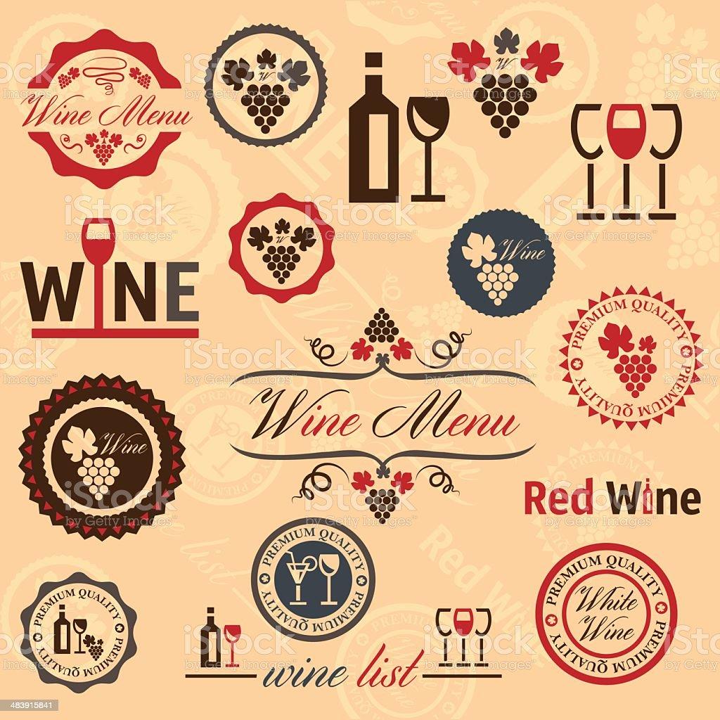 wine labels set royalty-free stock vector art