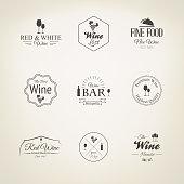 Wine labels set. Vector