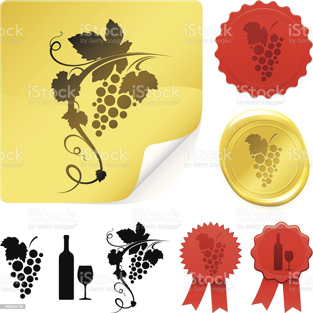 Wine labels royalty-free stock vector art