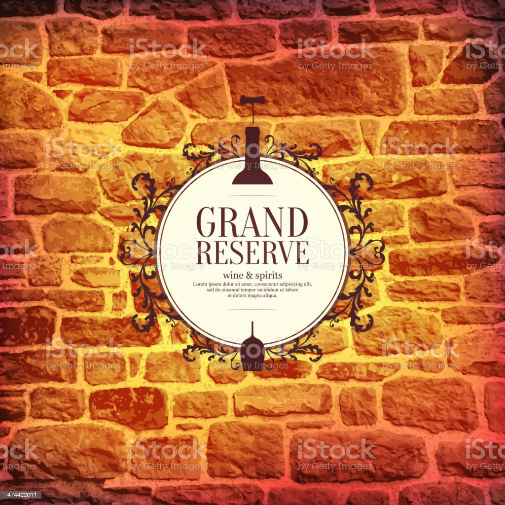 Wine list design vector art illustration