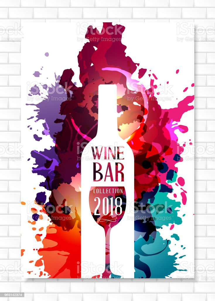 Wine list template for bar or restaurant menu design. royalty-free wine list template for bar or restaurant menu design stock vector art & more images of abstract