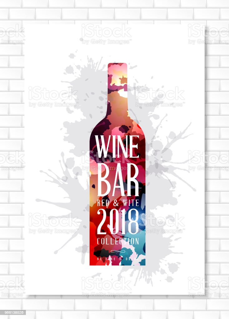 Wine list template for bar or restaurant menu design. - Royalty-free Abstract stock vector