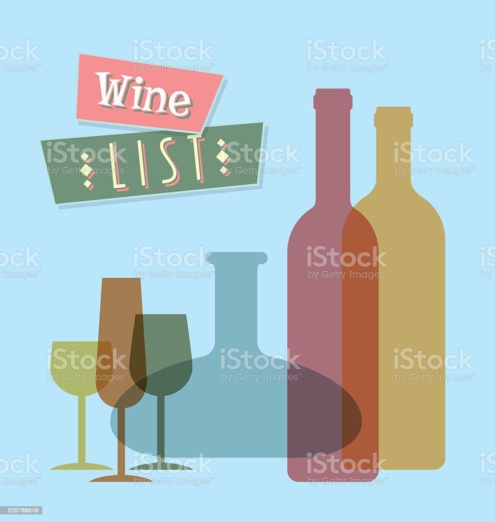 Wine list vector art illustration